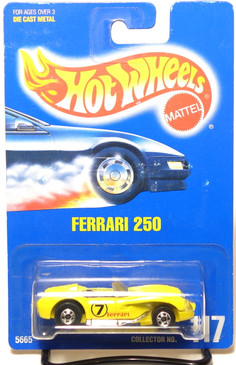 Hot Wheels Collector #117 Ferrari 250 in Yellow, BW wheels, BP