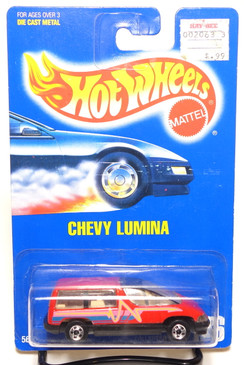 Hot Wheels Collector #126 Chevy Lumina in Red with BW wheels, BP