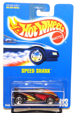 Hot Wheels Collector #113 Speed Shark in Black with 5-spks, BP