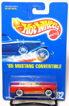 Hot Wheels Collector #162 Red '65 Mustang Convertibe w/WW, BP