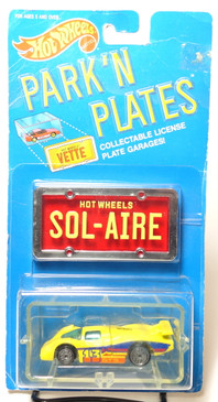 Hot Wheels Park n Plates Sol-Aire, Blue tinted windows, Red plate w/yellow lettering