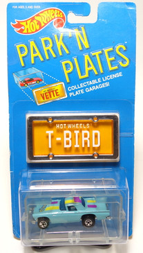 Hot Wheels Park n Plates '57 T-Bird with rare Blackwall wheels variation, BP