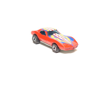 Hot Wheels Corvette Stingray, Red with Blue,Yellow, White tampo,loose