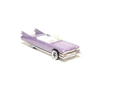 Hot Wheels '59 Caddy Convertible in Light Purple, loose