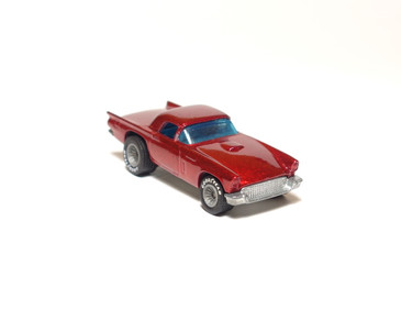 Hot Wheels '57 T-Bird in metalflake Red with GYG Real Riders, loose