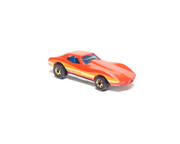 Hot Wheels Corvette Stingray, Red, Hong Kong Base, hogd wheels, loose