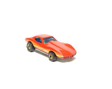 Hot Wheels Corvette Stingray, Metalflake Red, Hong Kong Base, hogd wheels, loose