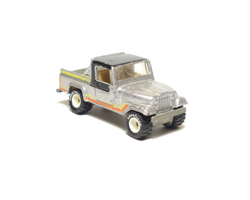 Hot Wheels Jeep Scrambler in rare metalflake silver, with White Hub Real Riders, loose