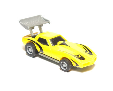 Hot Wheels Power Command Yellow Corvette, loose