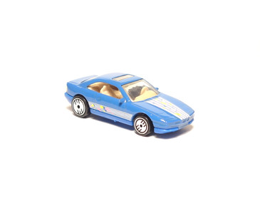 Hot Wheels BMW 850i, Blue with Ultra Hot Wheels, loose