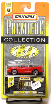 Matchbox Premiere Collection Series 2 Mustang Cobra Convertible in Red