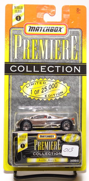 Matchbox Premiere Collection Series 1 Audi Avus in Chrome