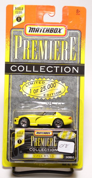 Matchbox Premiere Collection Series 1 Dodge Viper RT/10 in Bright Yellow