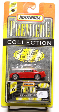 Matchbox Premiere Collection Series 1 Mazda RX-7 3rd Generation in Red