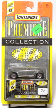 Matchbox Premiere Collection Series 1 Plymouth Prowler in Gray Metallic