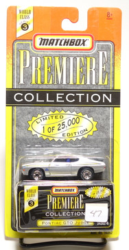 Matchbox Premiere Collection Series 3 Pontiac GTO Judge in Silver
