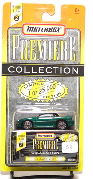 Matchbox Premiere Collection Series 2 Camaro Z-28 in metallic Green