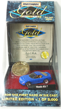Matchbox Gold Series, 3rd Gen Mazda RX-7 in Blue, only 5,000 produced