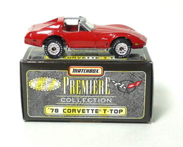 Matchbox Premiere Collection '78 Corvette with T-Tops in Red, mint loose