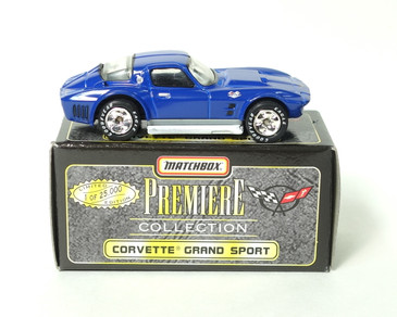 Matchbox Premiere Collection Corvette Grand Sport in Blue, mint loose