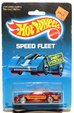 Hot Wheels Old Blister Speed Fleet Porsche 959 in Metallic Red MOC