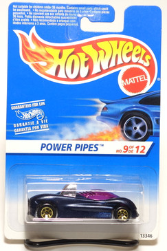 Hot Wheels International Blister Power Pipes with Gold 7-spk