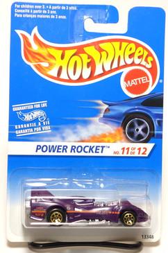 Hot Wheels International Card Power Rocket w/Gold 7spk wheels