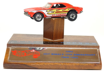 Hot Wheels Employee 15th Anniversary Plaque with '67 Camaro