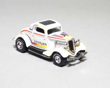 Lexmark 3-Window 1934 Ford Coupe Limited Edition Hot Wheel in White, loose
