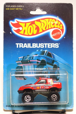 Hot Wheels Old Blister Trailbusters Gulch Stepper in Red MOC