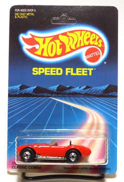 Hot Wheels Unpunched Old Blister Speed Fleet Classic Cobra in Red with Blackwalls MOC