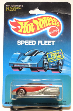 Hot Wheels Old Blister Speed Fleet Alien in Red with Ultrahot wheels MOC