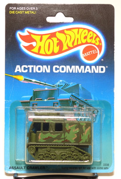 Hot Wheels Old Blister Card - Action Command Pkg, Assault Crawler MOC