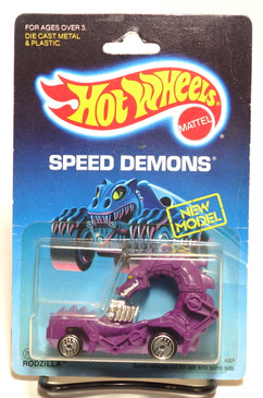 Hot Wheels Speed Demons on Old Blister, Rodzilla in Purple