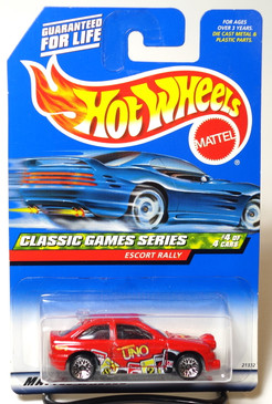 Hot Wheels 1998 First Edition Coll#984 Classic Games Series Red Escort Rally