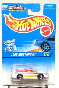 Hot Wheels 1996 Mustang GT w/5spk wheels Coll#715