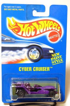 Hot Wheels Blue Card Cybercruiser in metalflake Purple, UH wheels, Coll#261