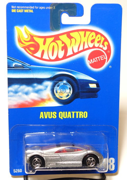 Hot Wheels Collector Number #208 Avus Quattro in Silver with 5spk wheels