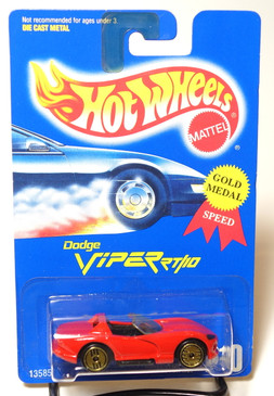 Hot Wheels Collector #210 Dodge Viper RT/10 Gold Medal Speed GUH wheels, BP