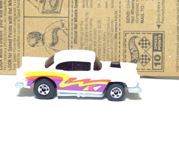 Hot Wheels '55 Chevy in White with BW wheels, mint loose