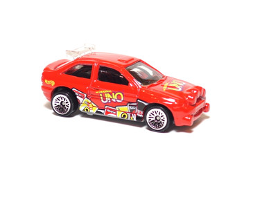 Hot Wheels Escort Rally in Red with Lace Wheels, mint loose