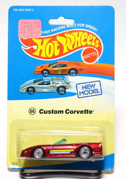 Hot Wheels Custom Corvette on Experimental Blister, Candy Apple Red, UH wheels MOC