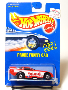 Hot Wheels Collector #84 Probe Funny Car, Rare Collector Number with Speed Points inside blisterpak