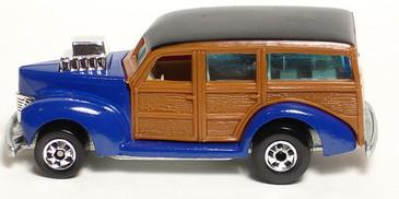 40's Ford Woodie in Enamel Blue, Hot Wheels Hi-Raker Series