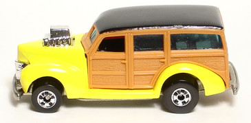 40's Ford Woodie in Bright Yellow, Hot Wheels Hi-Rakers Series