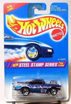 Hot Wheels '57 Chevy Steep Stamp Series #290, SP5, Gold Logo, Black interior, gray windows