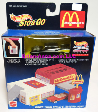 Hot Wheels McDonalds Sto & Go, '57 Chevy in Black