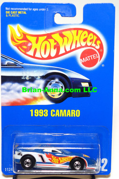 Hot Wheels 1993 Camaro Jack Baldwin Race Car in Blue Enamel, Coll#242