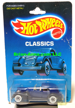 Hot Wheels Classic Caddy,  Metalflake Dark Blue, WW, Classics Pkg  1986