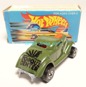 Hot Wheels Leo Mattel India, Boxed, Neet Streeter in Dark Green, Black Torque Center tampo (0044)